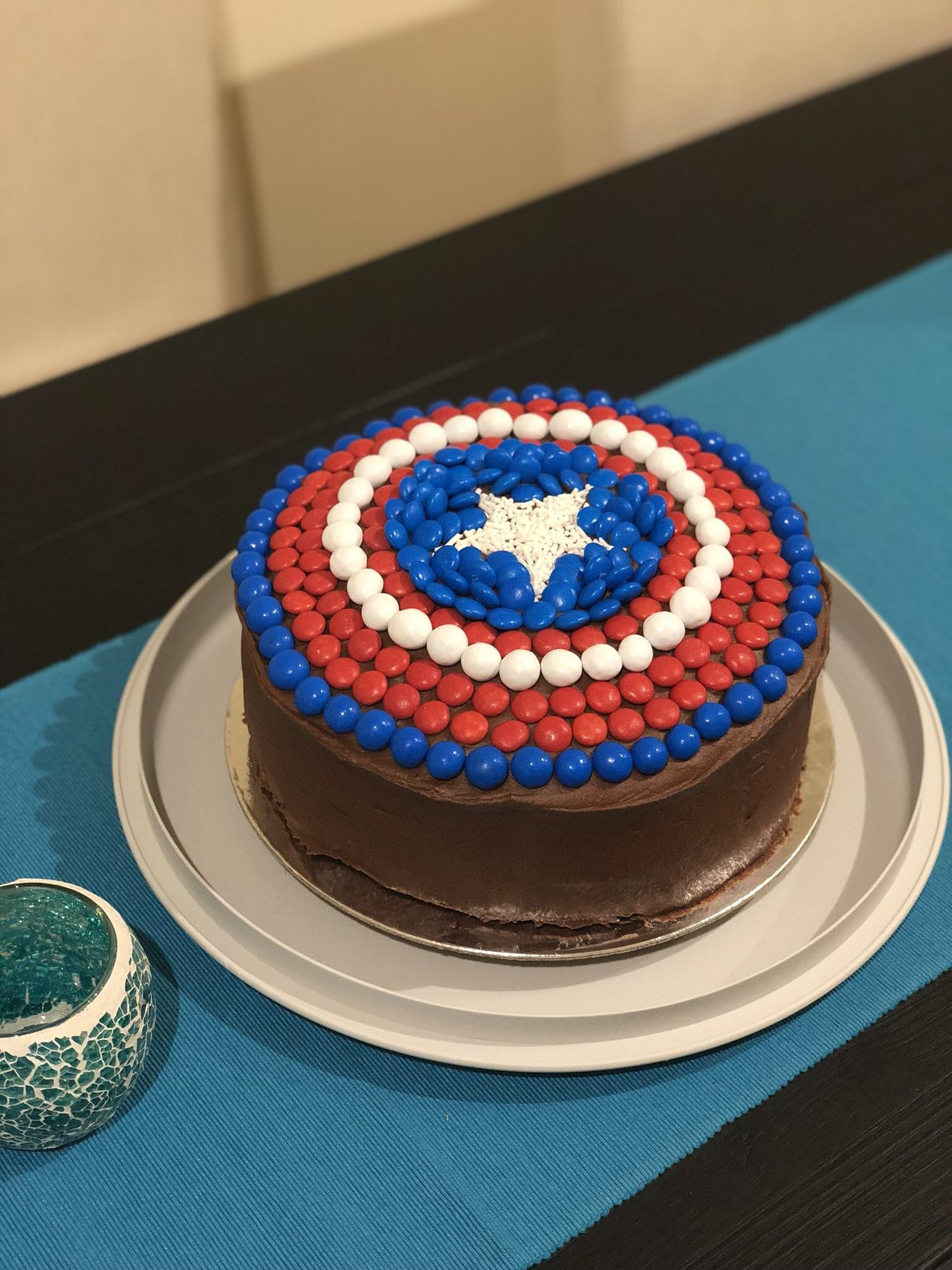Captain America Kuchen Homemade Captain America S Shield Cake With M Ms Food