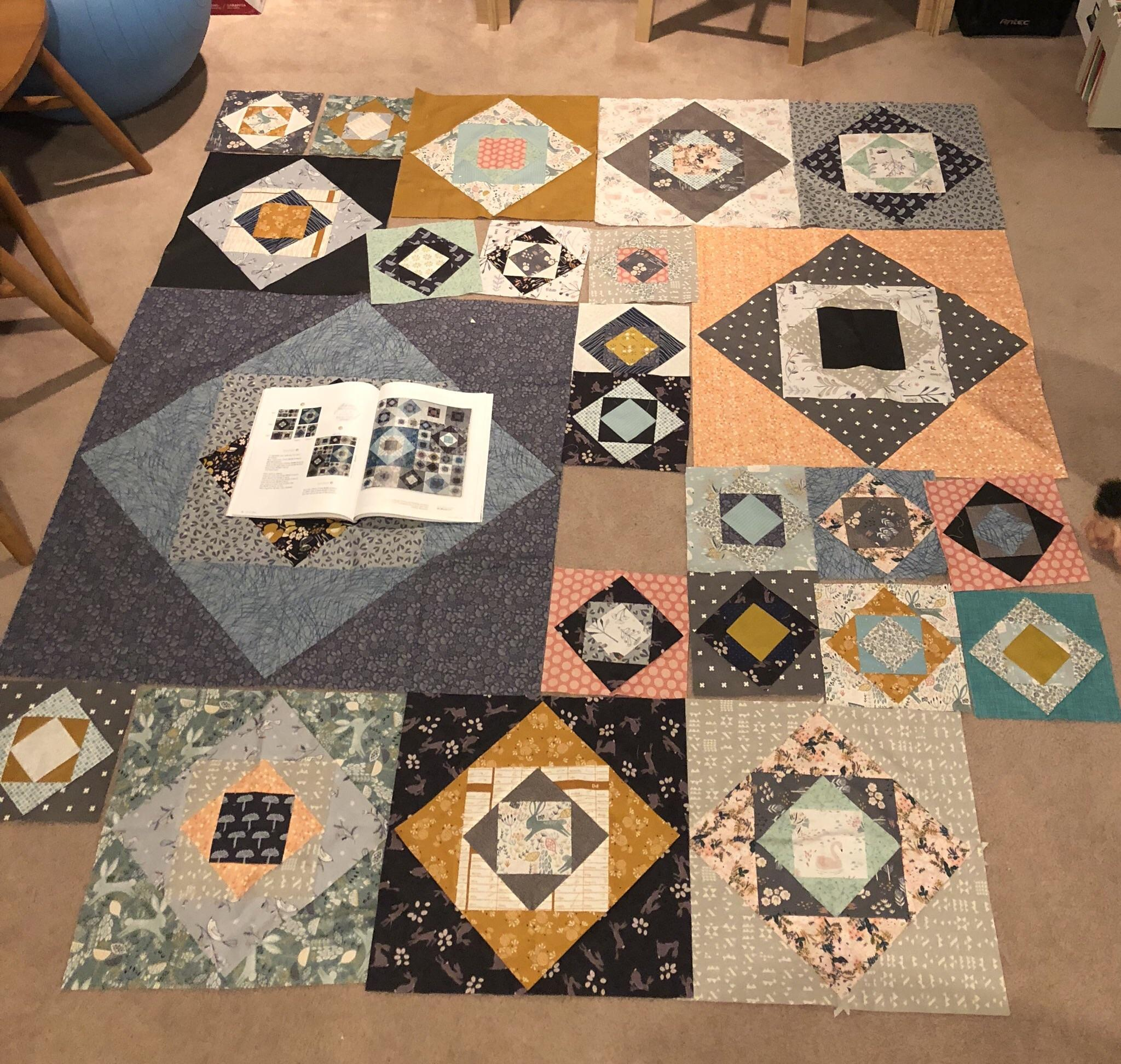 Moderne Quilts Wip Close To Done Only Four Small Blocks Left Pattern Is A
