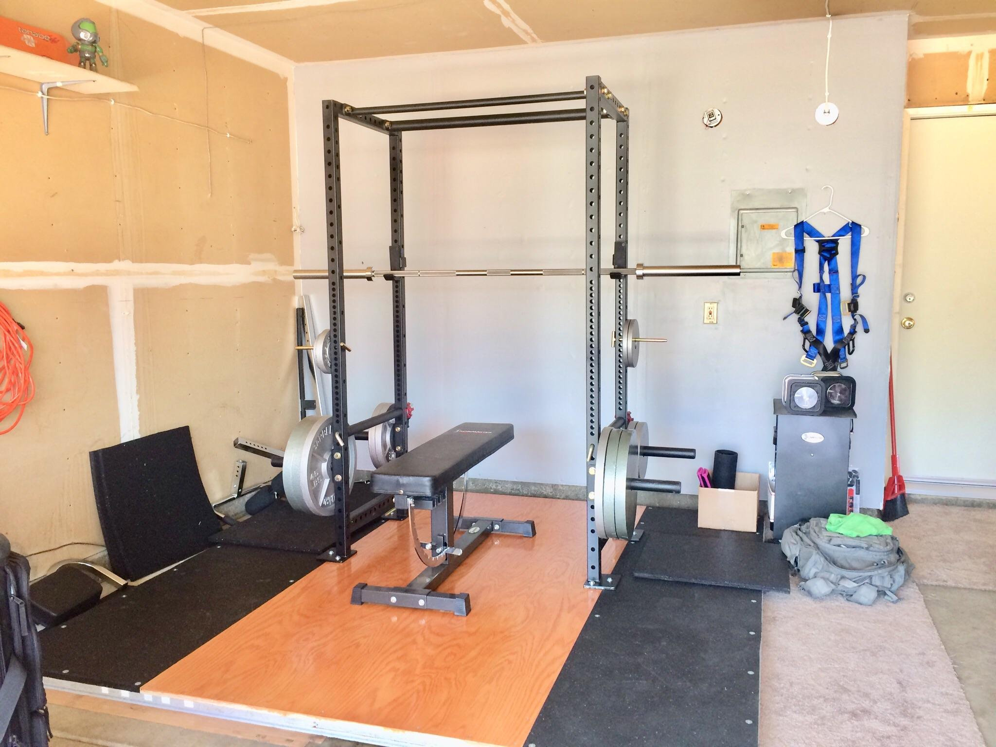 Garage gym rack diy folding squat rack garage at home gym diy gym