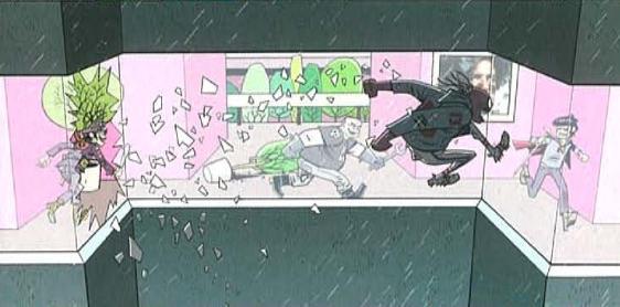 storyboard from the cancelled Gorillaz movie  gorillaz