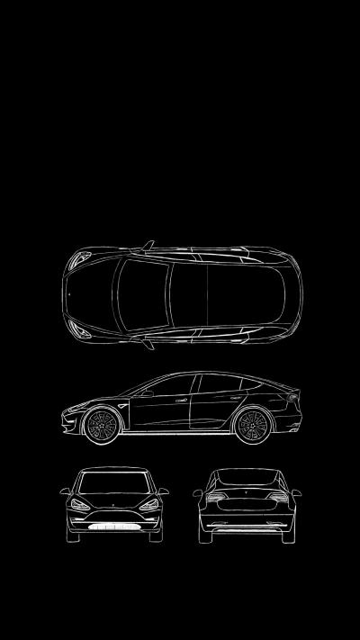 Here's a Model 3 iPhone X wallpaper that no one asked for. : teslamotors