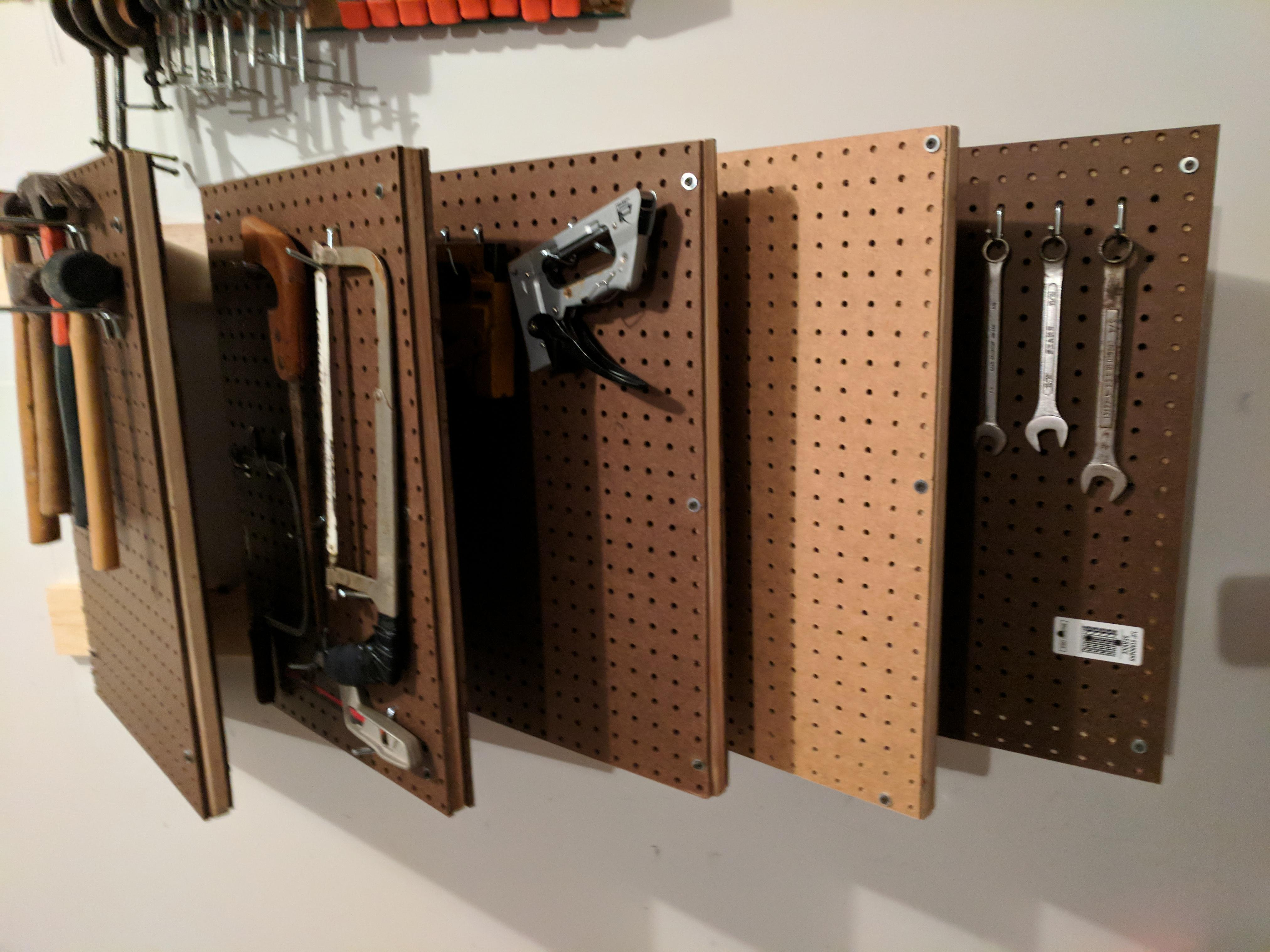 Garage Cabinets Reddit Contest Pegboard Organization For Small Shop Space