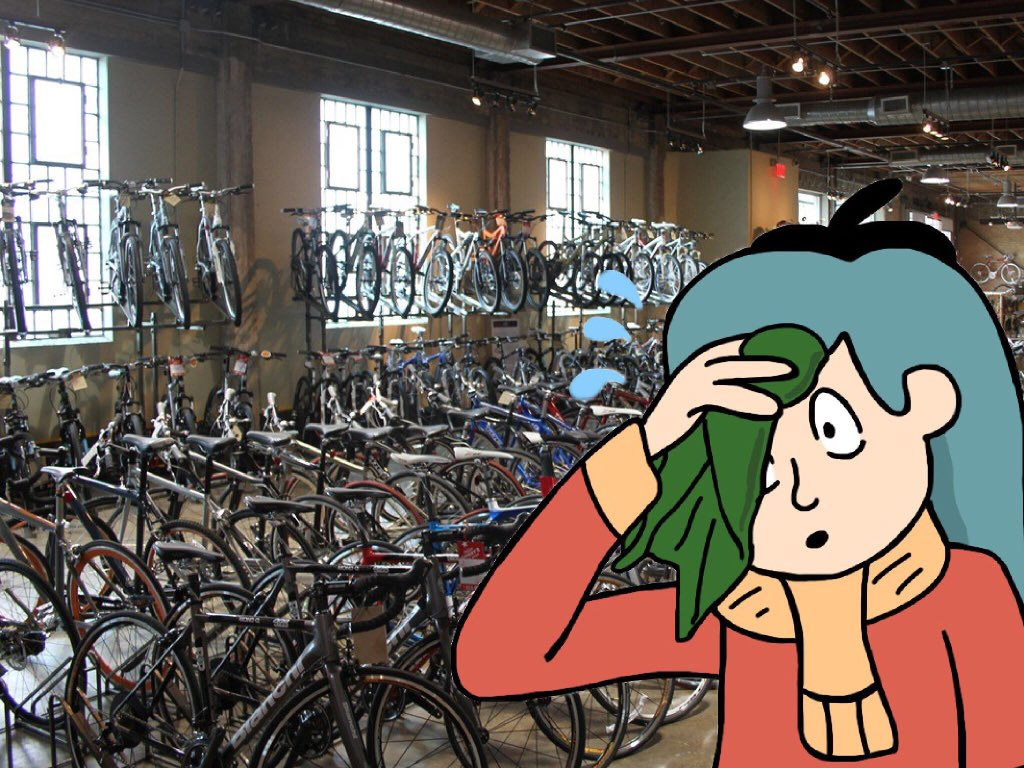 A Bike Store When You Re At A Bike Store But Realize You Re Hilda Hildatheseries