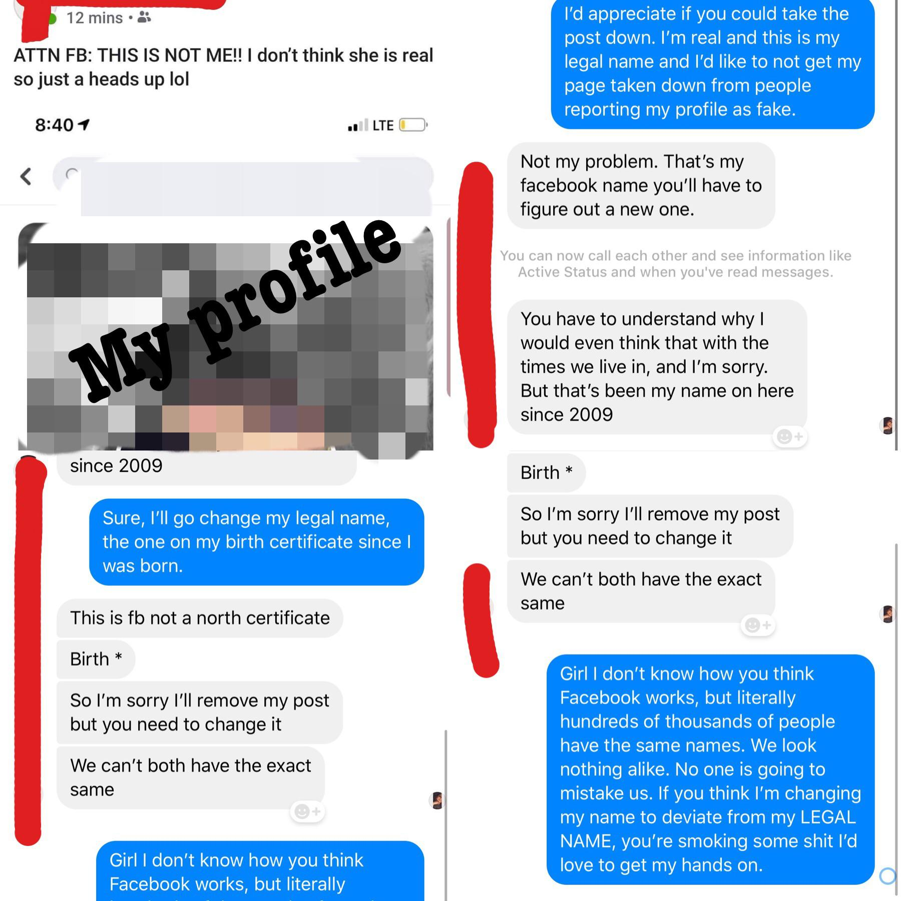 / Name Girl Decides We Aren T Allowed To Have The Same Names On Facebook