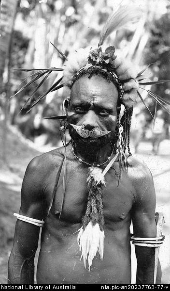A Sepik (actual) Head Hunter, Australia, 1933  creepy