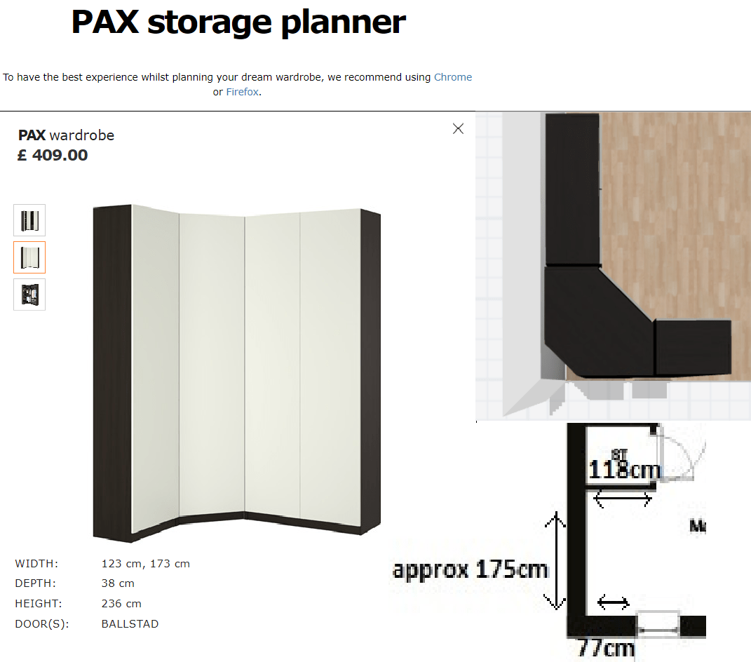 Pax Ballstad Are The Units Of This Pax Wardrobe Separable Ikea
