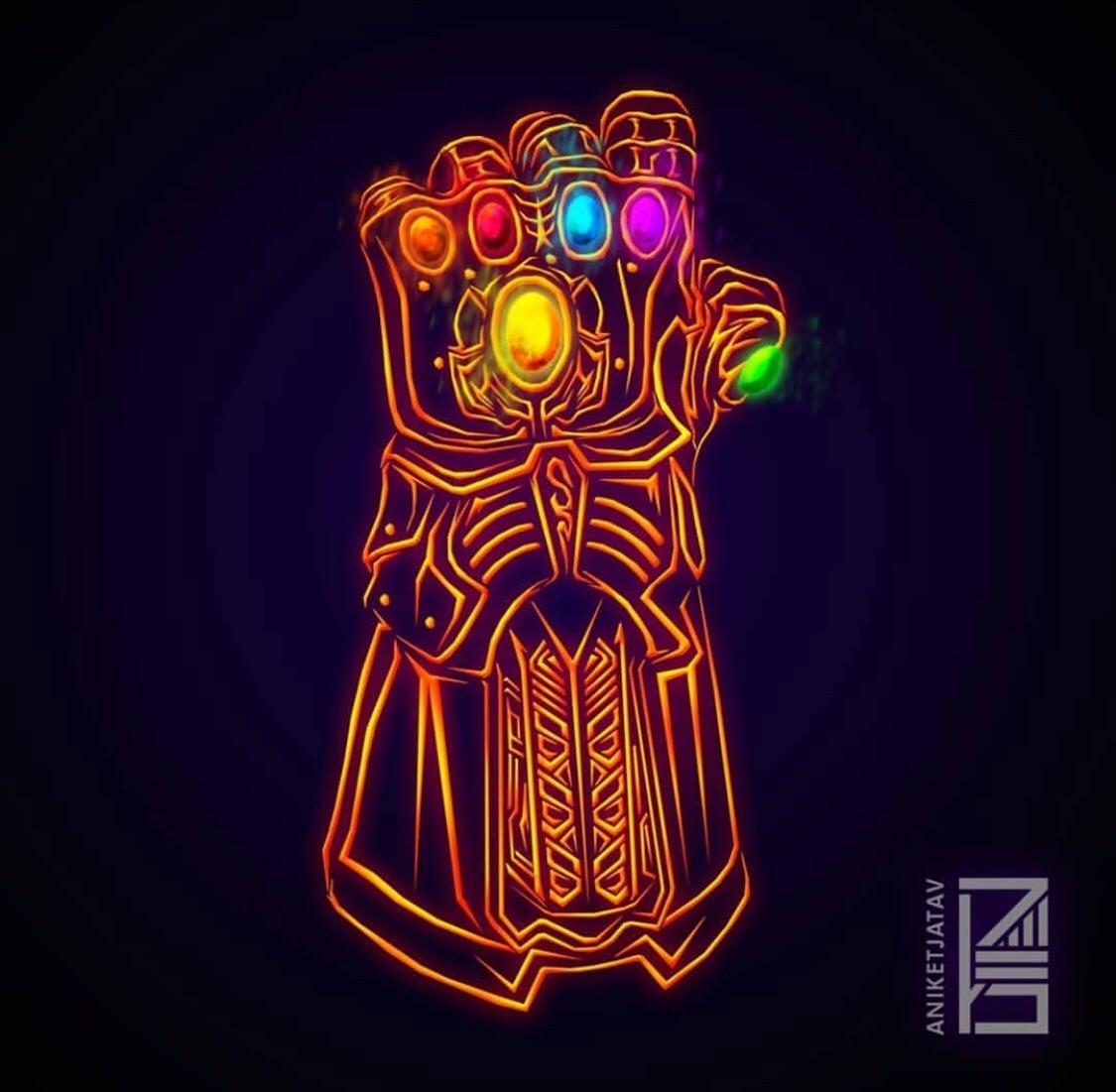 Deadpool Hd Wallpaper Iphone Neon Infinity Gauntlet Marvelstudios
