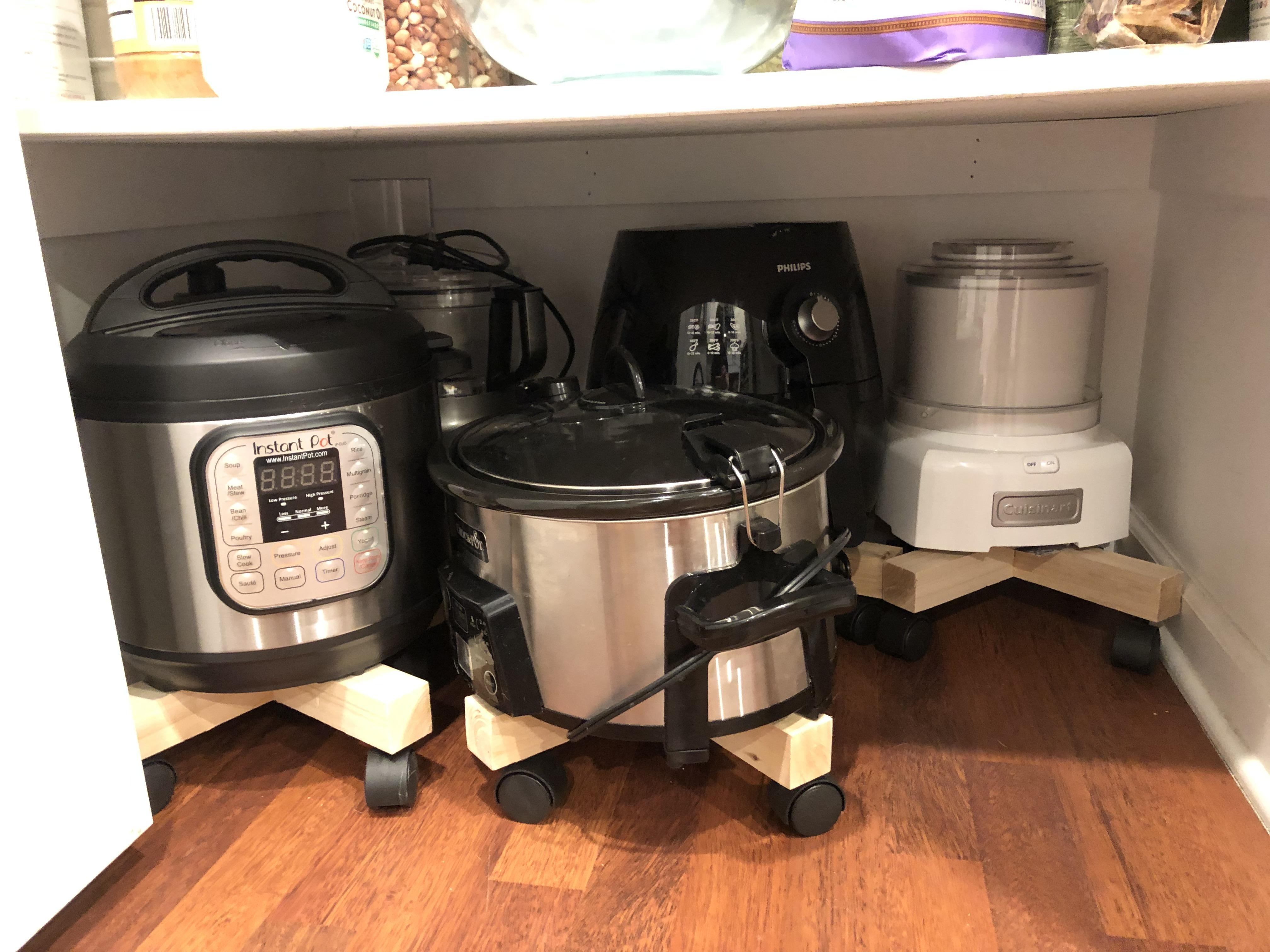 Cheap Kitchen Appliances Be Lazy Make A Garage For Your Heavy Small Appliances With Cheap