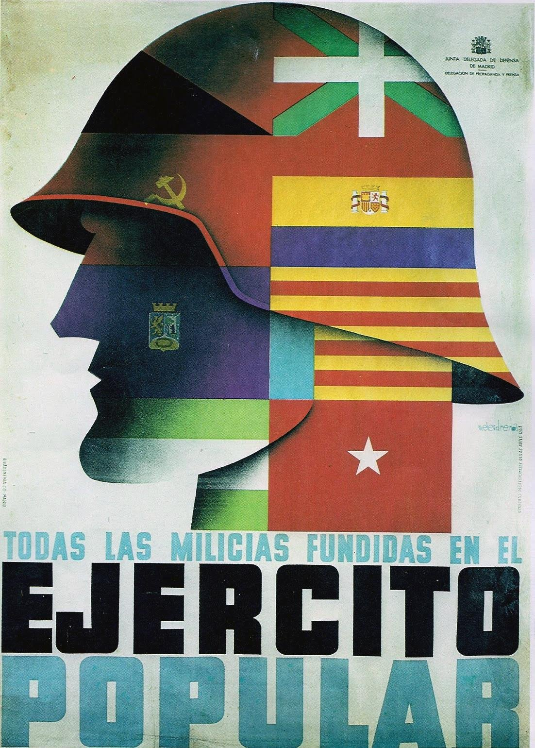 Poster In Spanish Republican Poster From The Spanish Civil War