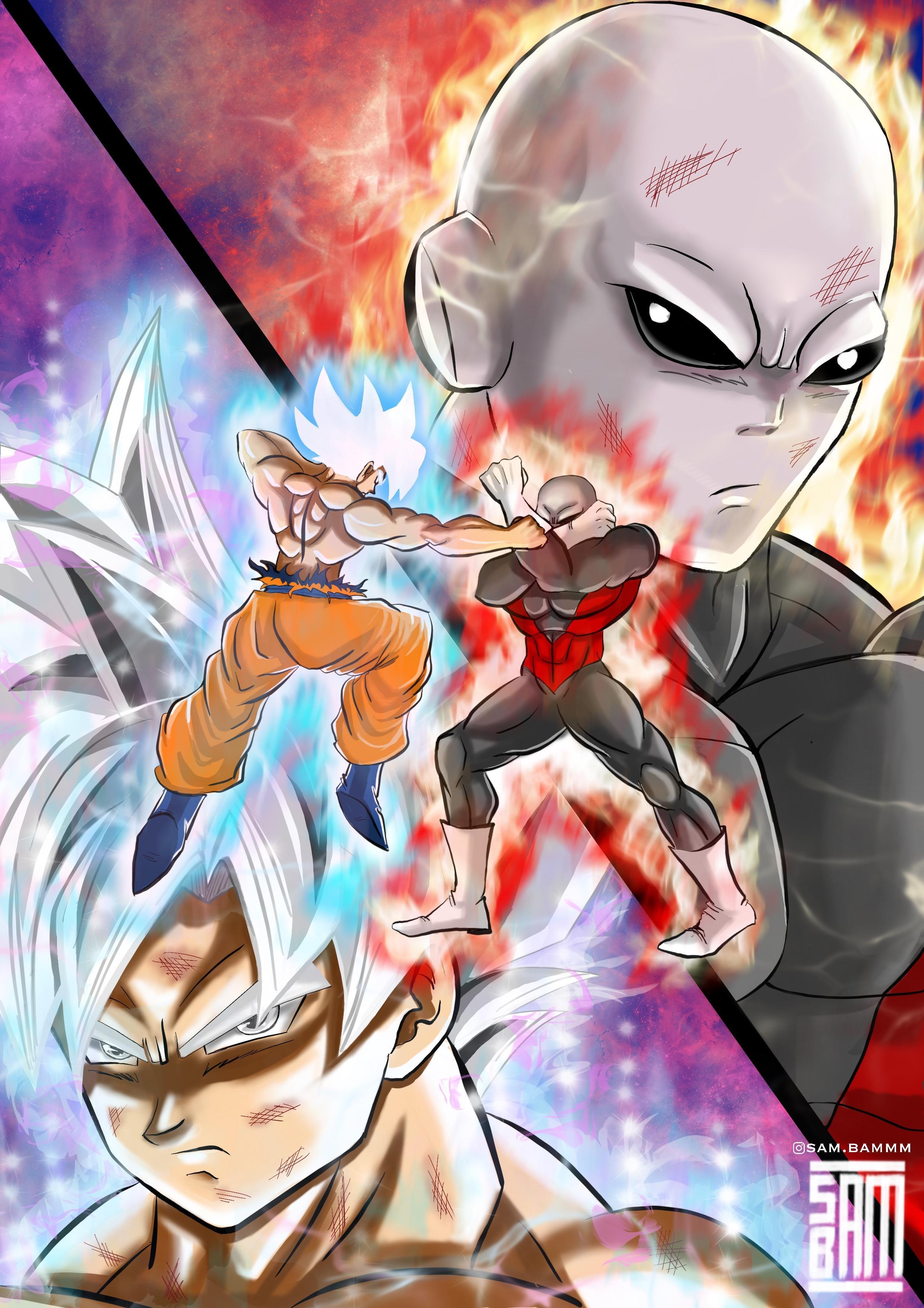 Dragon Ball Super Live Wallpaper Iphone X Goku Mastered Ultra Instinct Vs Jiren Fanart