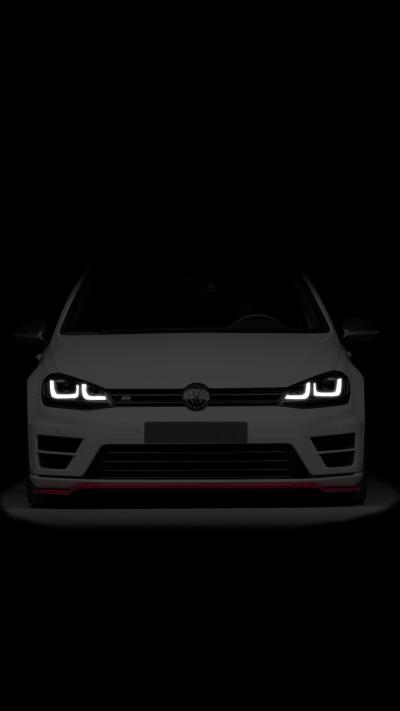 Dark Volkswagen Golf R [1080x1920] : Amoledbackgrounds