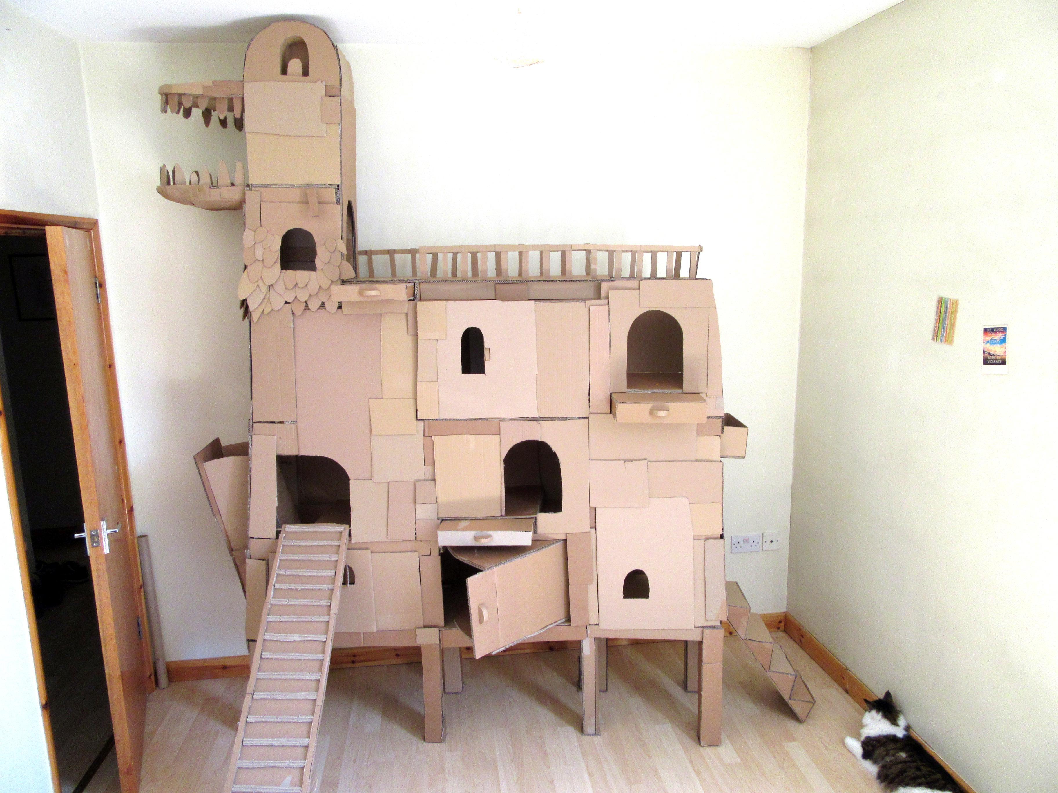 Fullsize Of Cardboard Cat House
