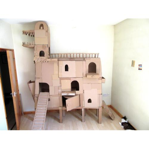 Medium Crop Of Cardboard Cat House