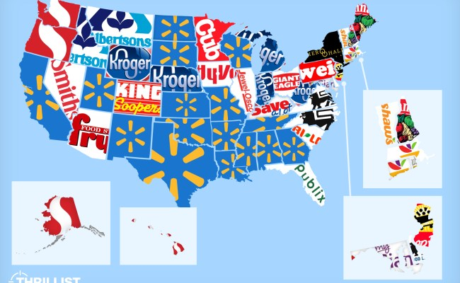 The Most Popular Grocery Store In Every Us State