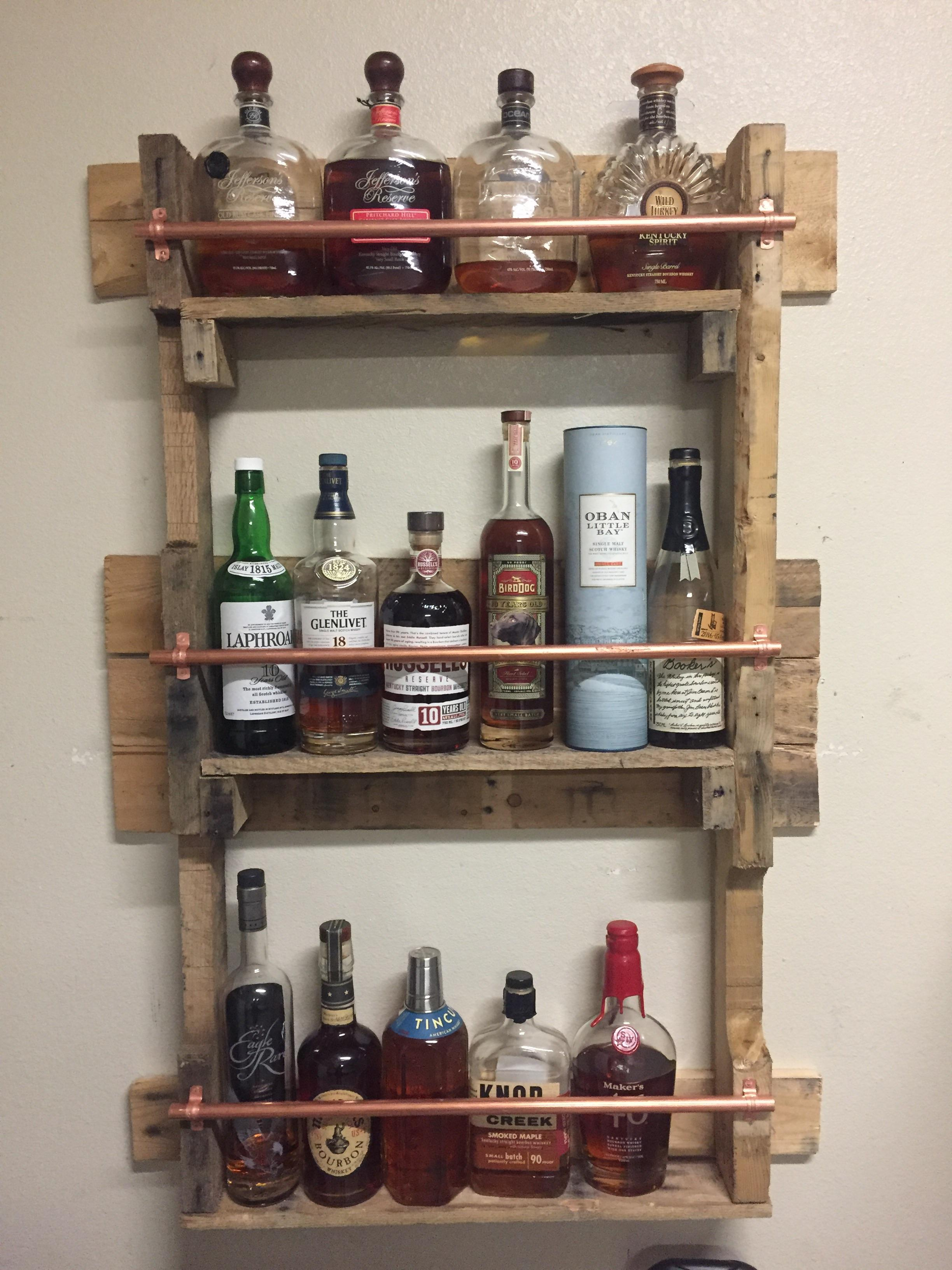Garage Cabinets Reddit Finished My Whiskey Shelf For My Garage Total Cost Was