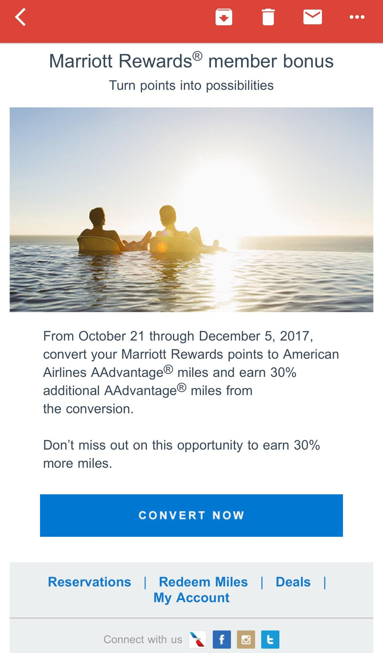 Miles And More Points Marriott Pts 30 Bonus To Aa No Cap Churning