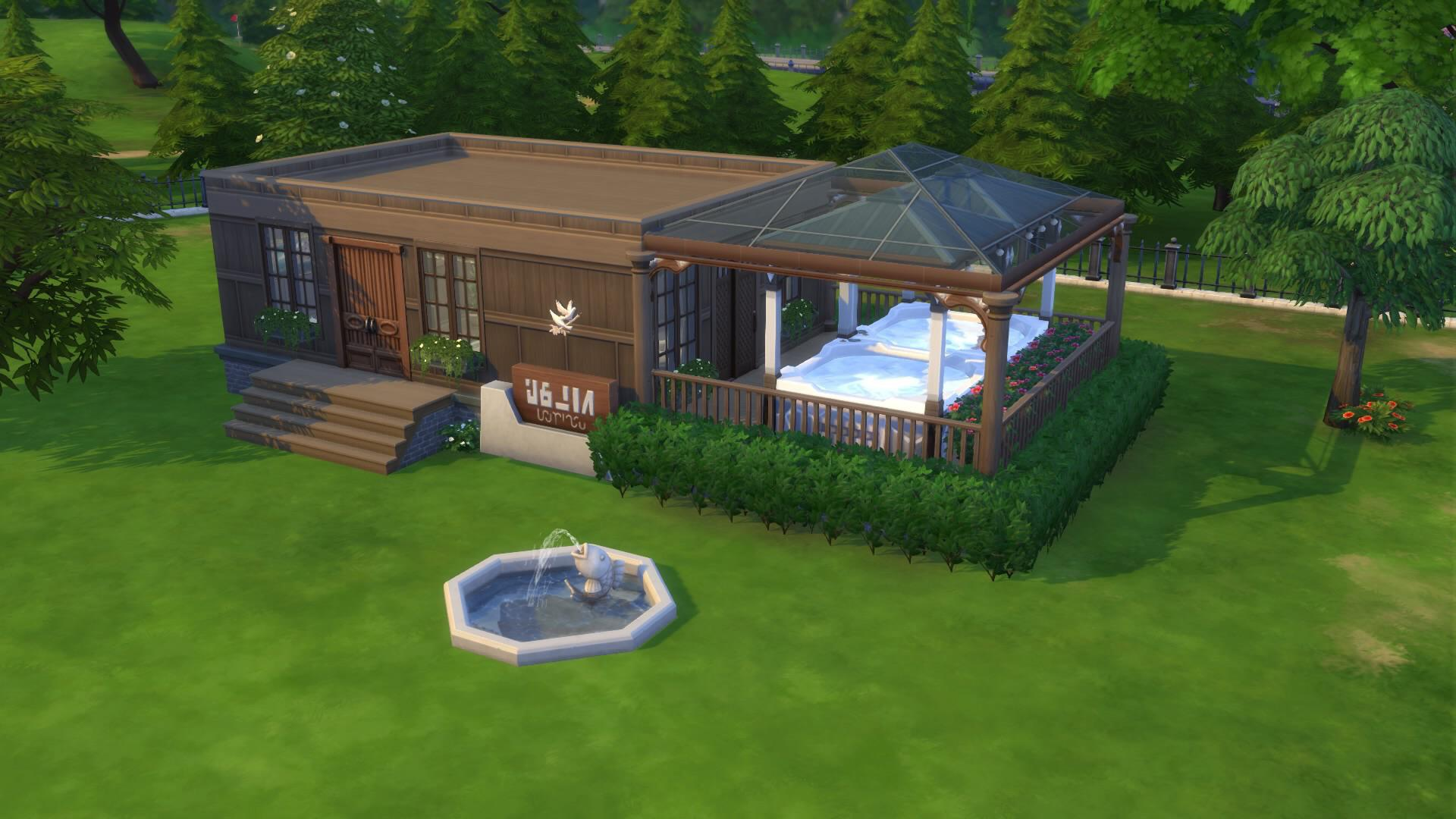 I Tried Making A Base Game Spa With The New Hot Tub Sims4