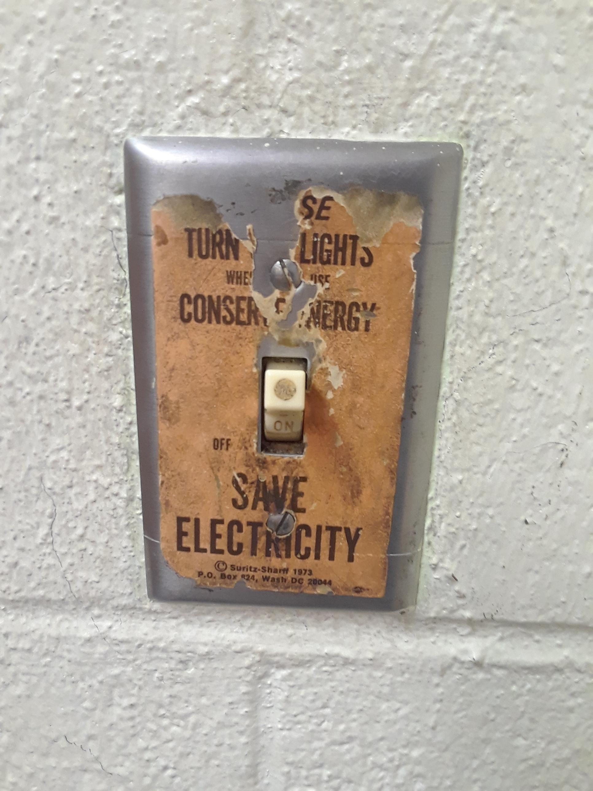 Conserve Electricity This Vintage Sticker That Encourages Shutting The Lights Off To