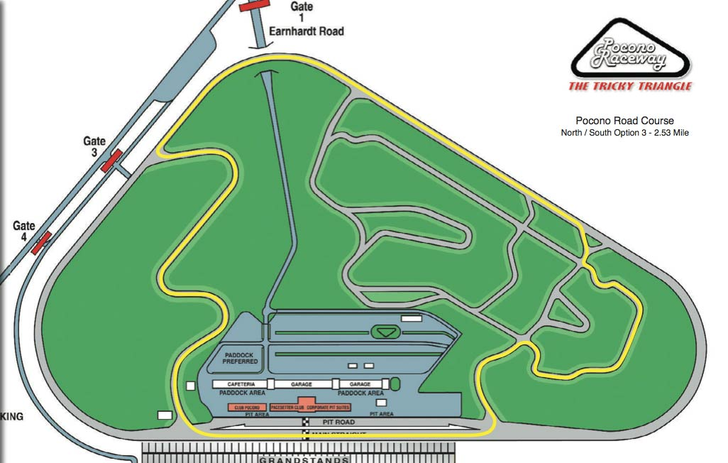 Pocono Roval (more of just a road course?) Better option than