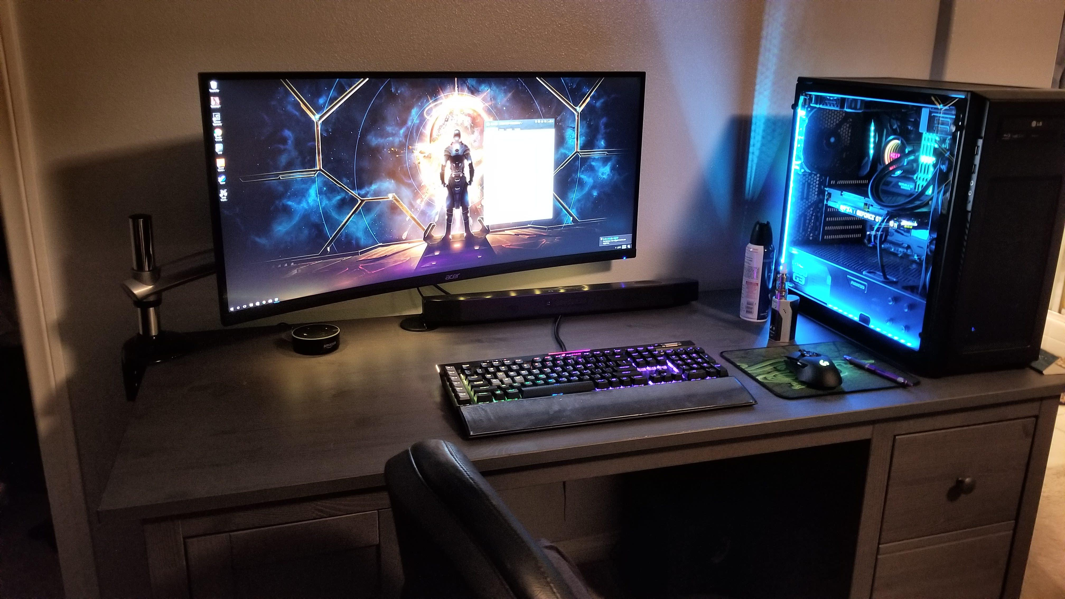 Battle Station Gaming Office House Pinterest Buero From A Battletop Setup To A Battlestation Setup