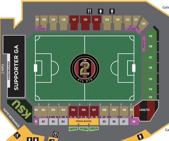 For anyone interested in KSU\u0027s seating chart  AtlantaUnited