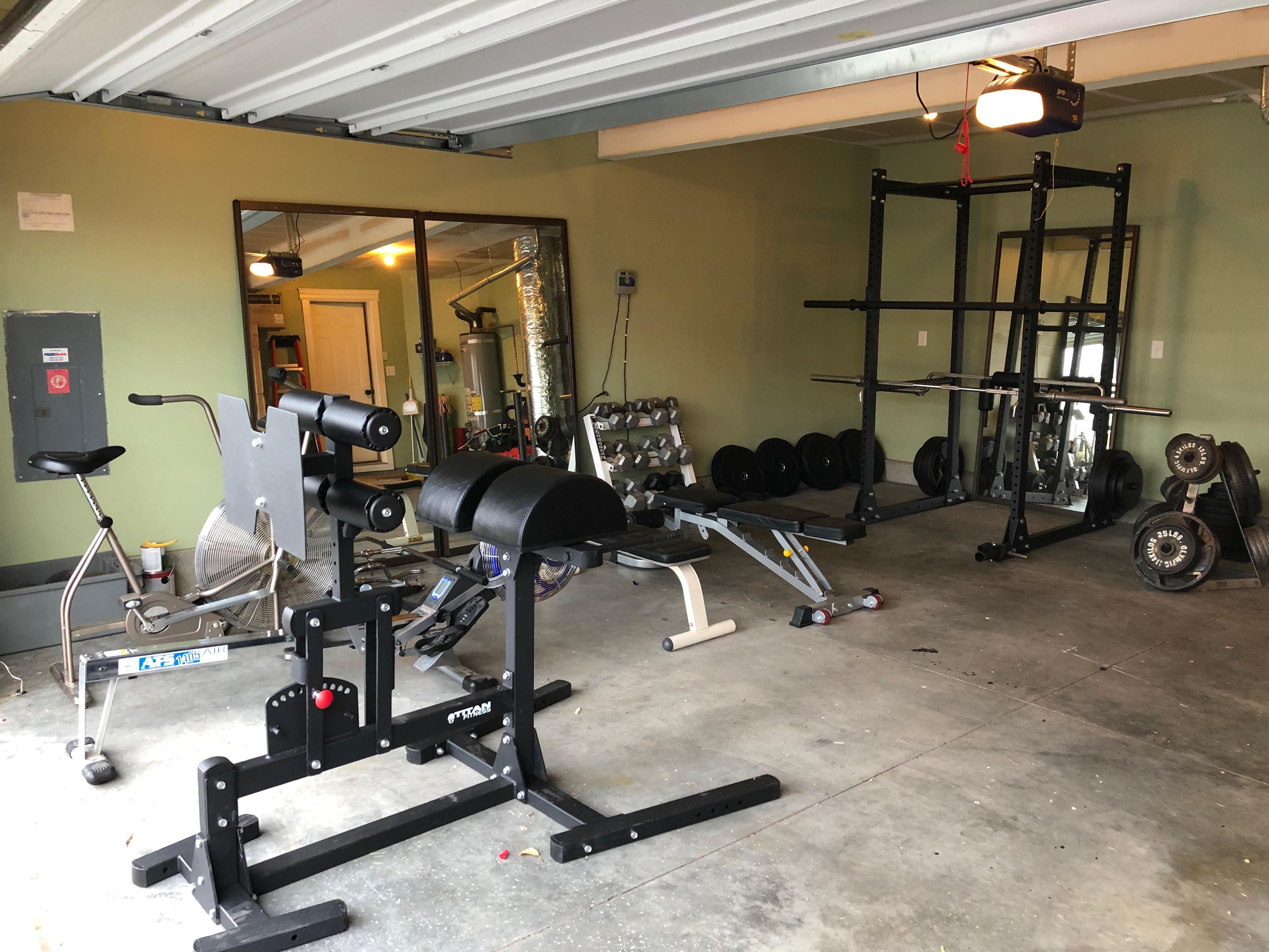 Garage gym ghd american barbell garage gym rack