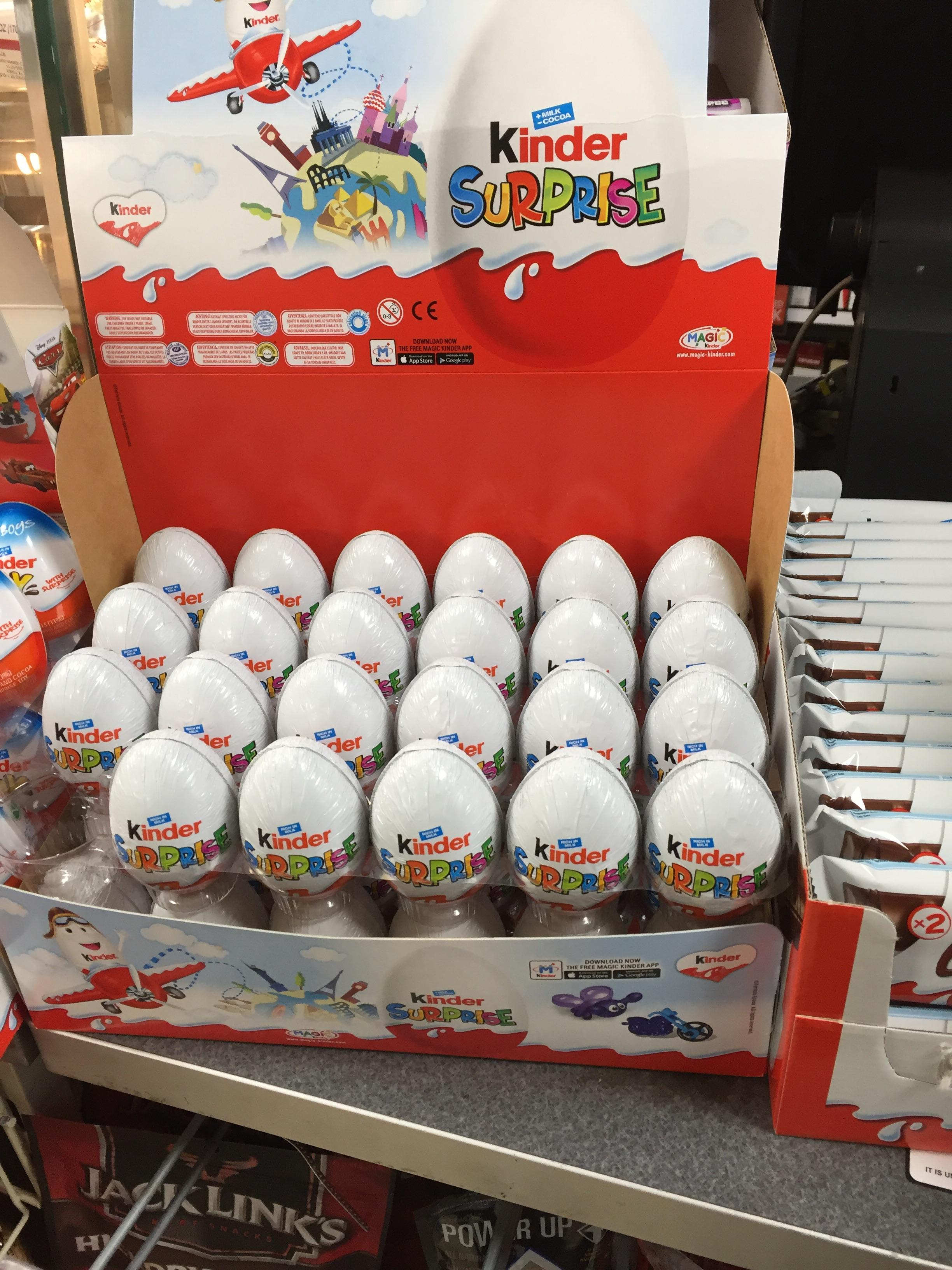 Kinder Egg Illegal My Local Convenience Carries Illegal Kinder Eggs