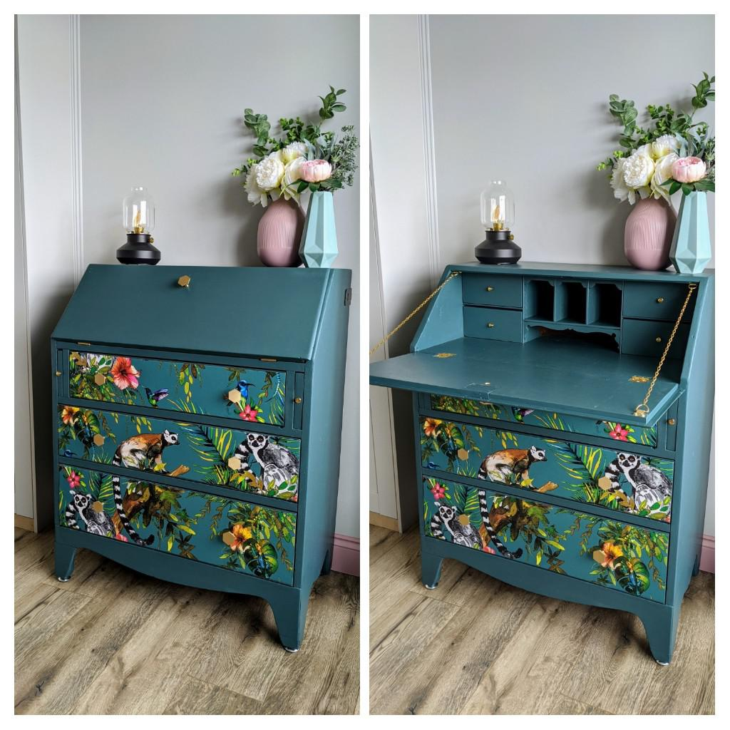 Old Handmade Writing Desk Turned Into A Changing Table For The New Nursery Upcycling