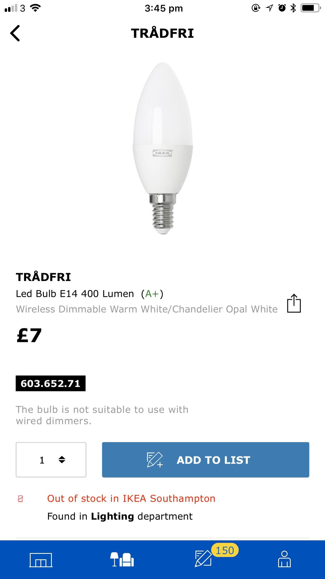Ikea Tradfri Anyone Know What Happened To This Bulb It S Been Out Of Stock For