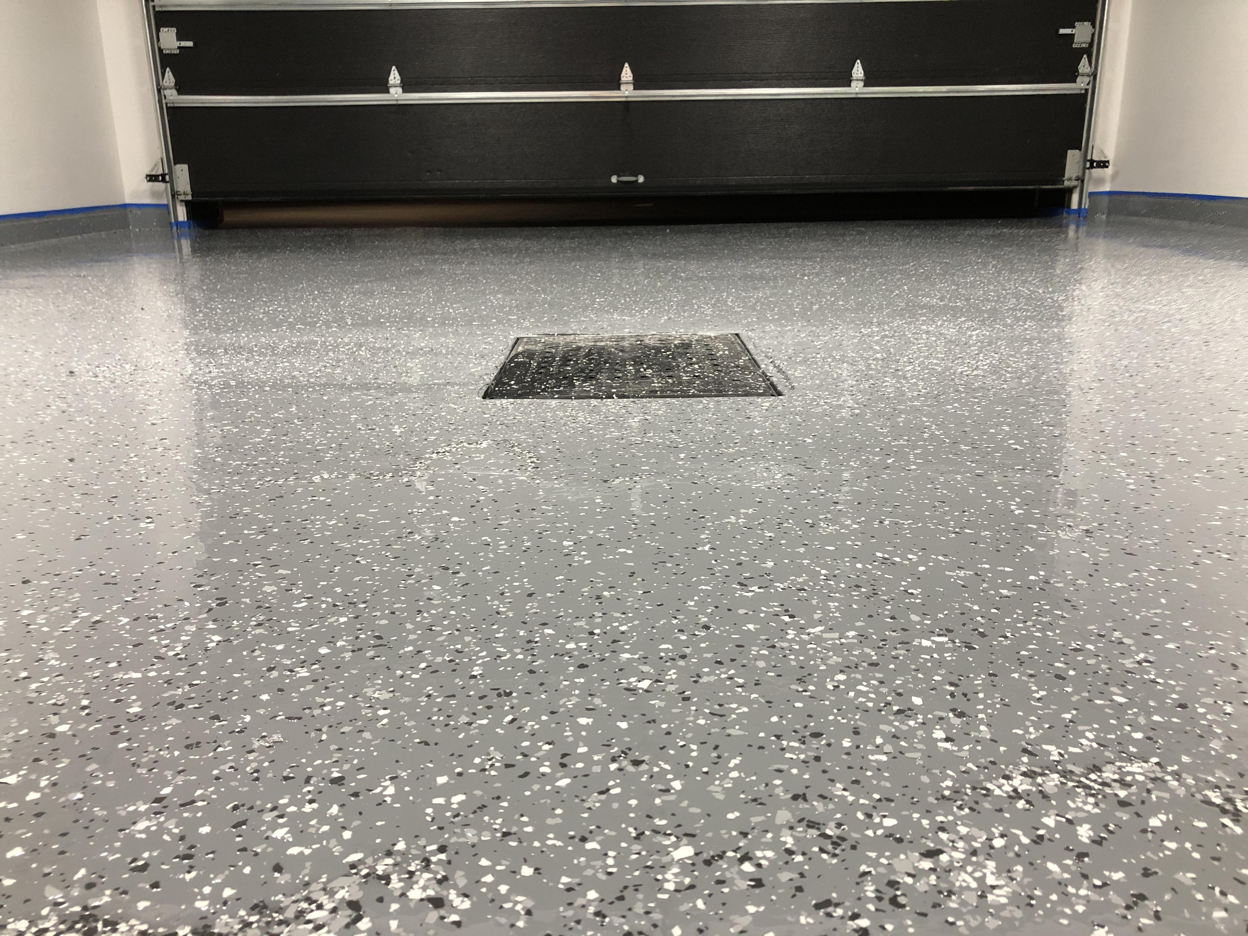 First Time Diy Epoxy Garage Floor Garageporn