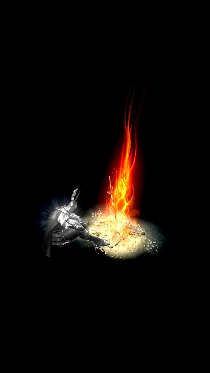 Live Moving Wallpaper For Iphone Dark Souls The Abyss Bonfire 1080x1920 Amoledbackgrounds