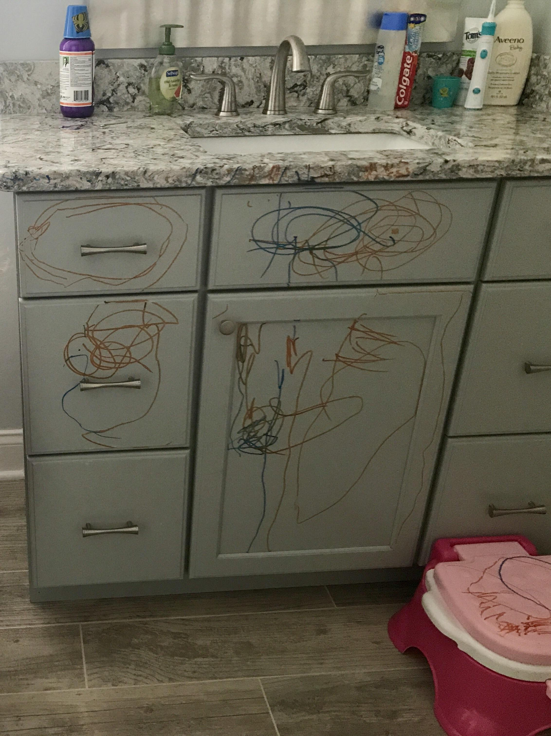 How To Remove Sharpie From Countertop As I Took The Sharpie From My Daughter I Muttered Words I Had