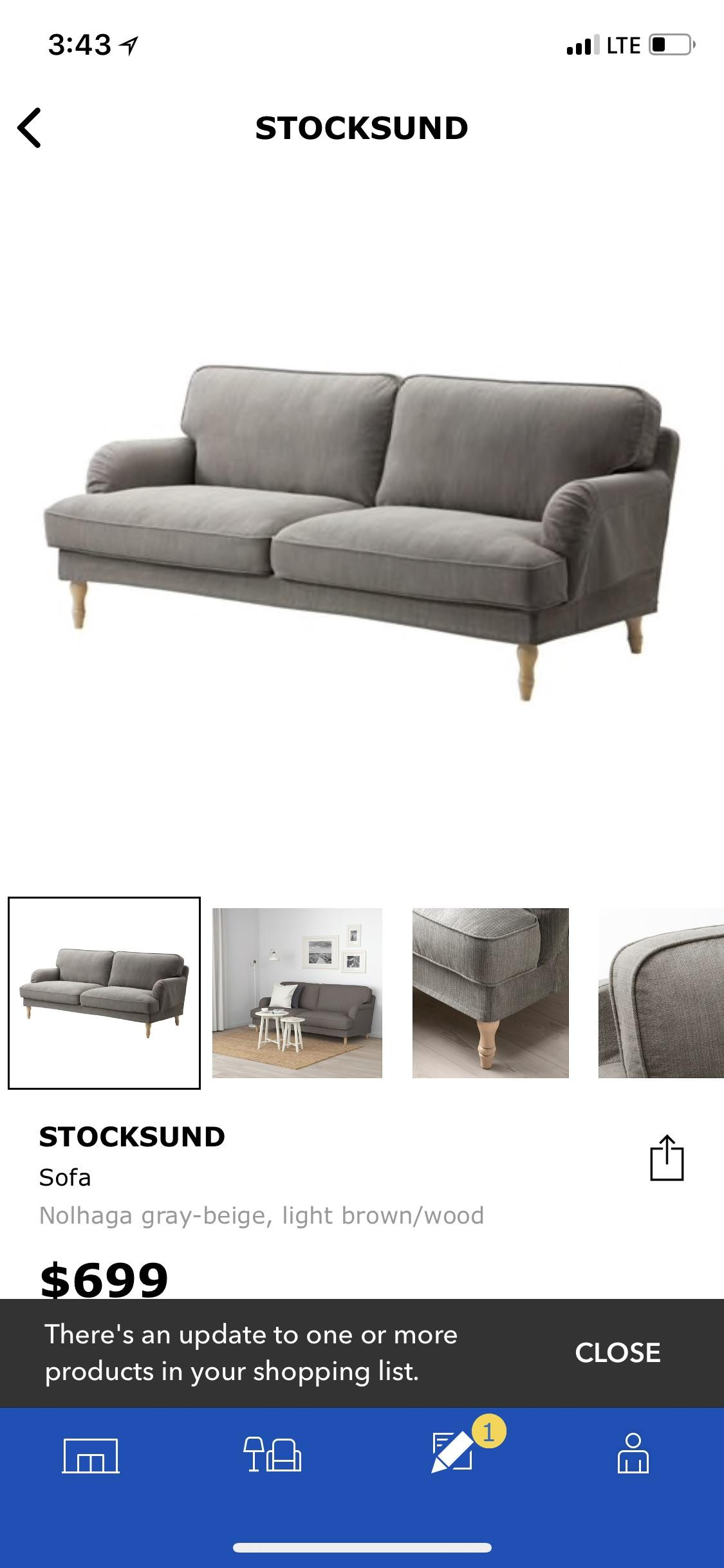 Sofa Couch Reddit Has Anyone Purchased The Stocksund Sofa Thoughts And Pics