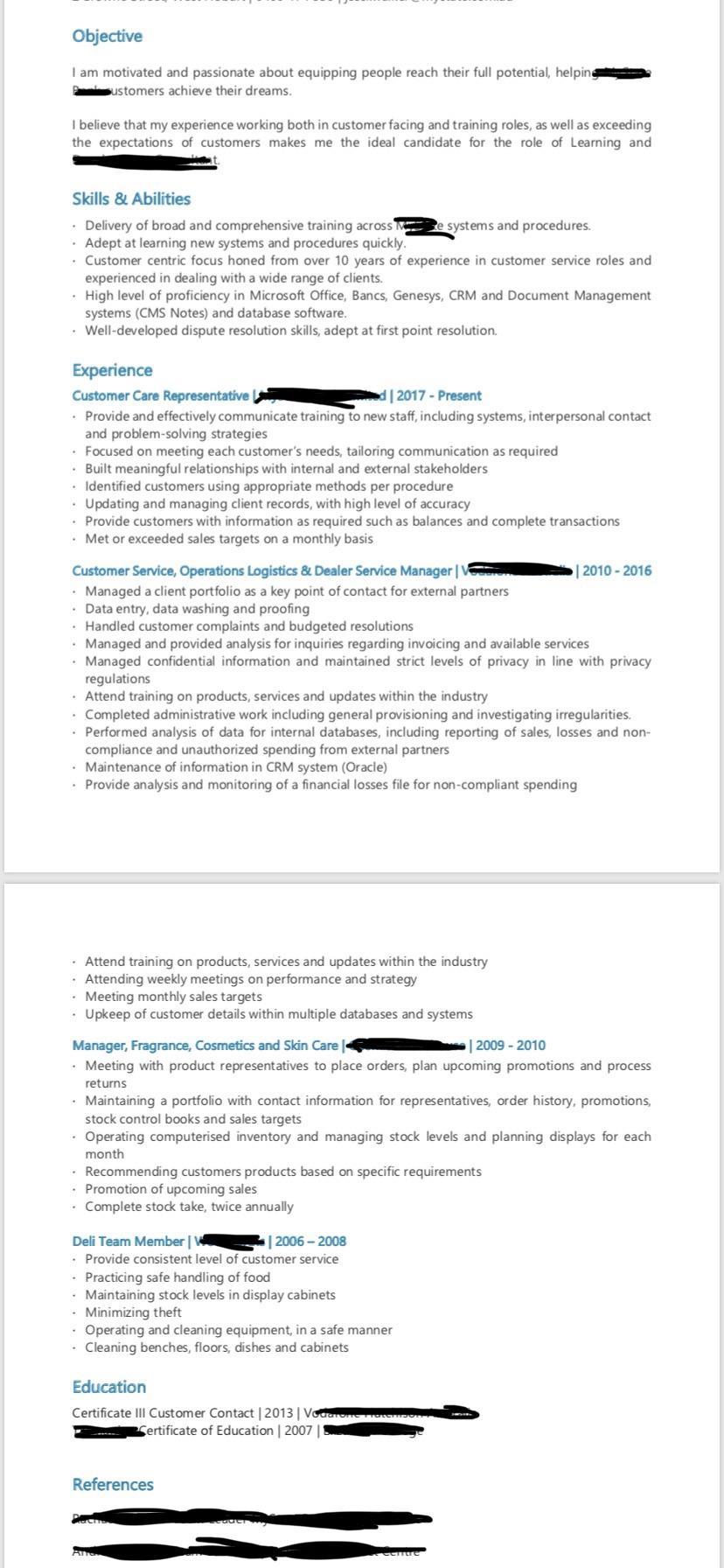 resume too wordy reddit