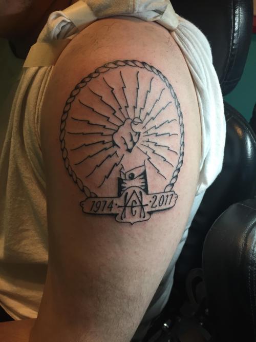 Medium Of Dog Memorial Tattoos