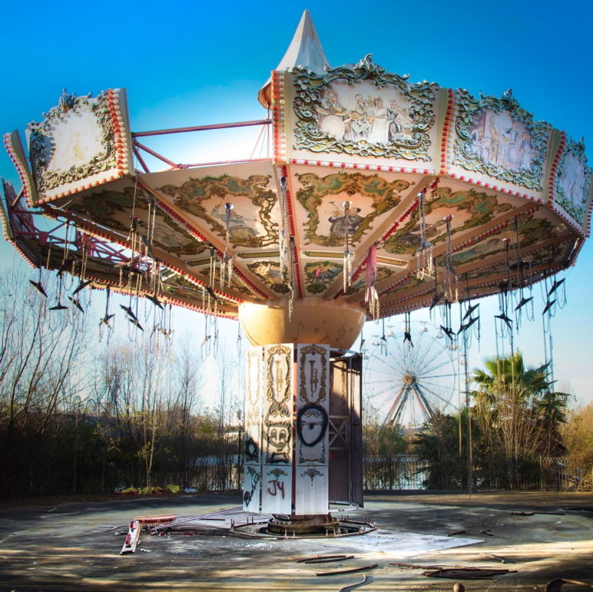 Six Flags Jazzland Abandoned Ride At The New Orleans Six Flags Following