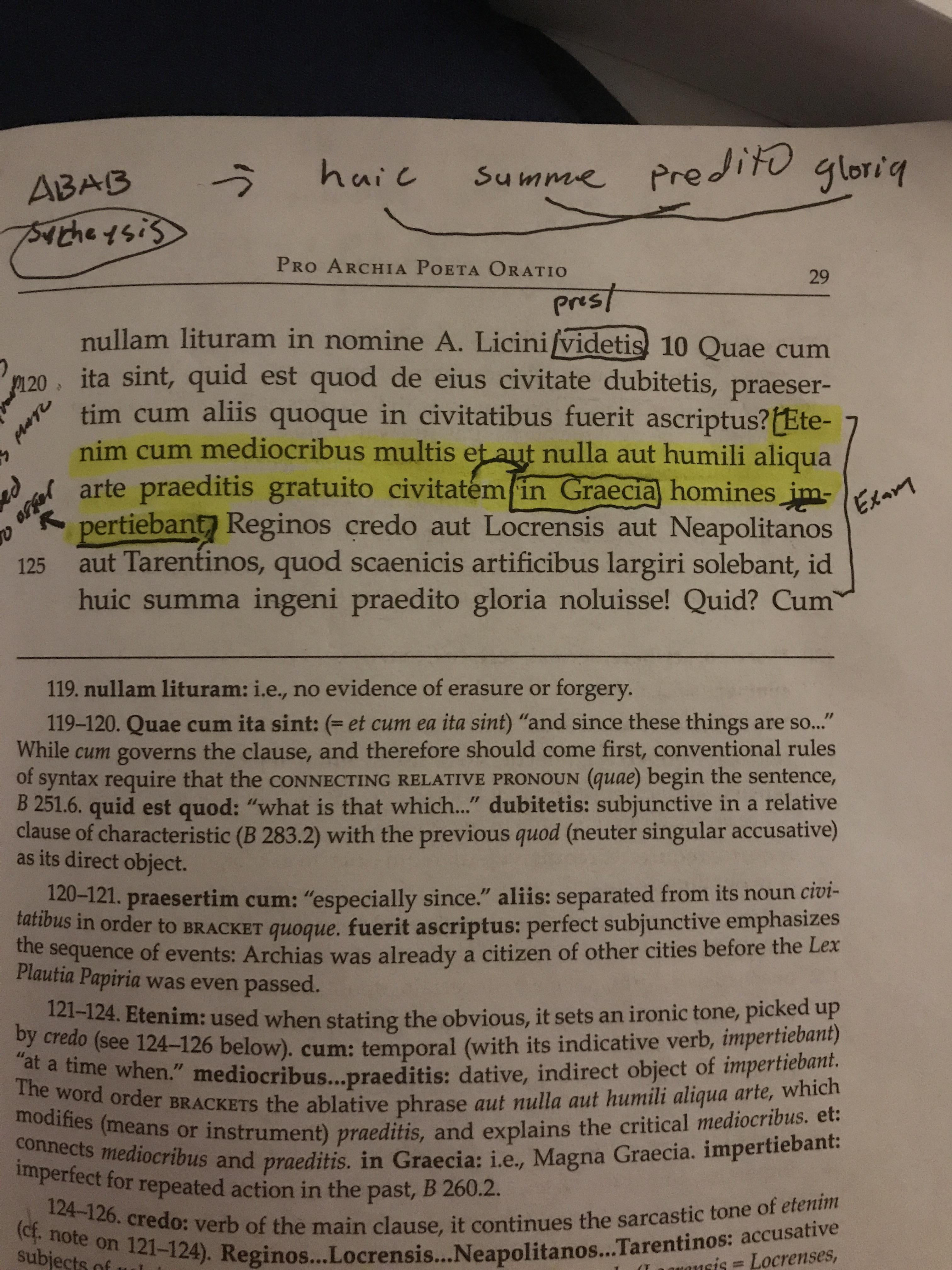 Arte Latin Translation Late Night Cicero Translation His Refuting Argument In Front Of