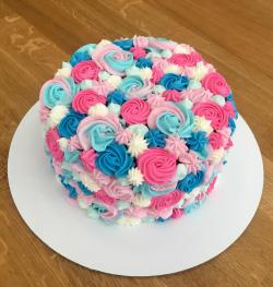 Small Of Gender Reveal Cake Ideas