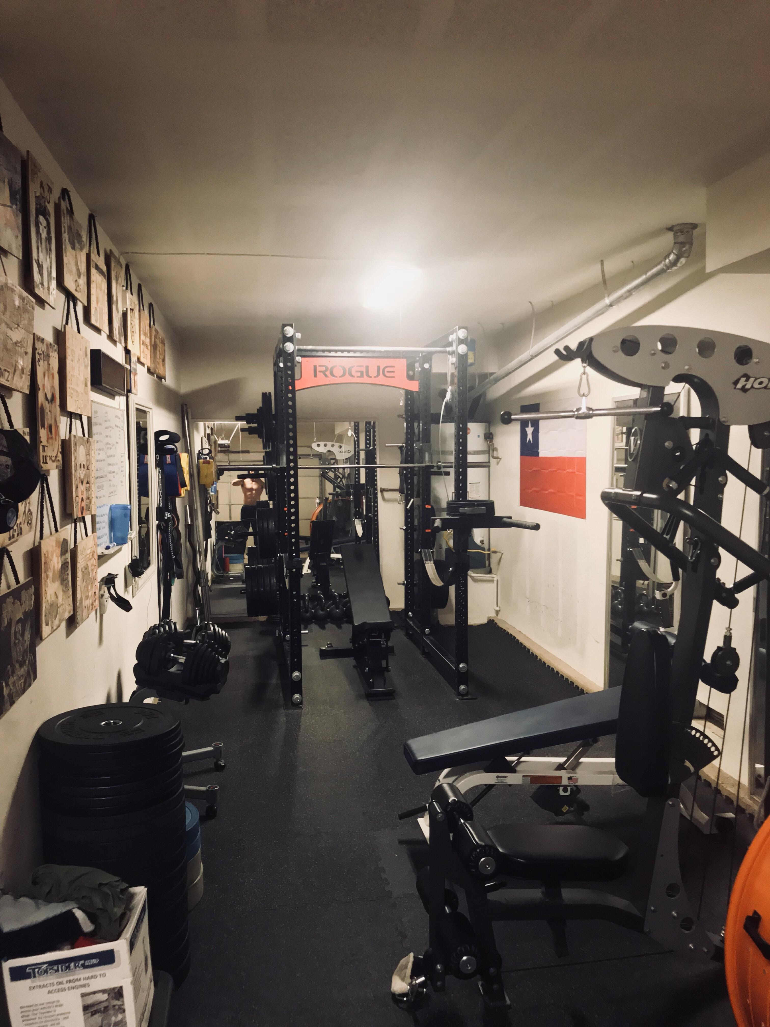Small garage gym in set up owonline info with rogue fitness sale