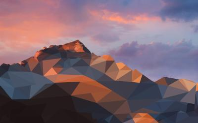Edited the macOS wallpaper, Low poly, 2880x1800 : Art