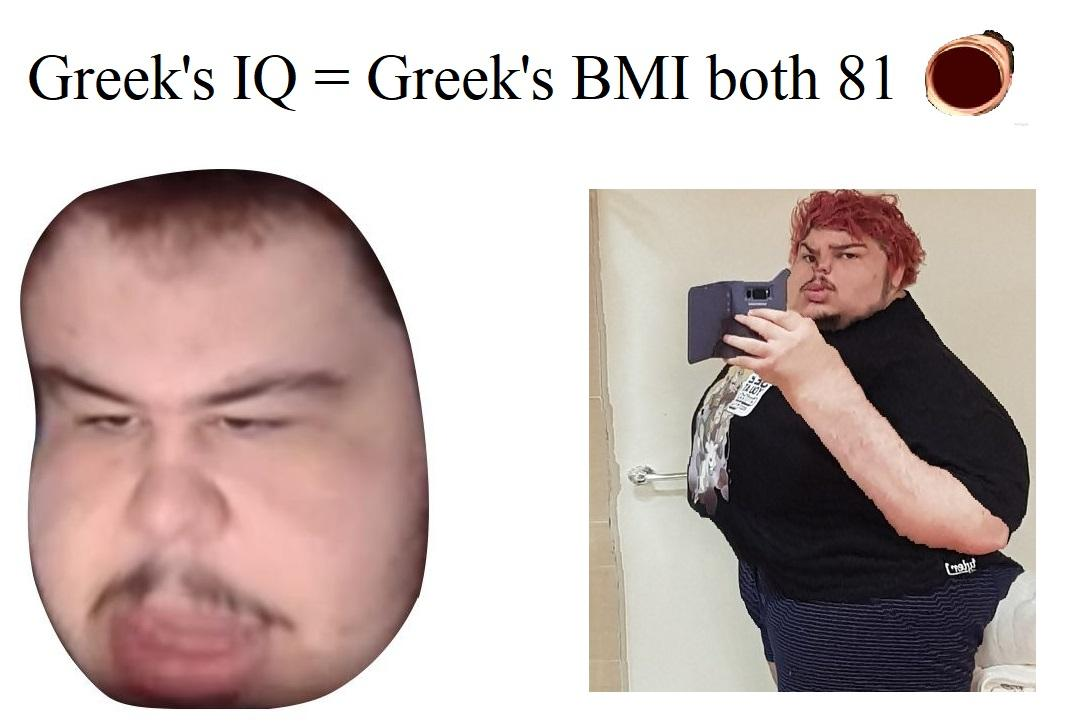Greek\u0027s IQ \u003d Greek\u0027s BMI both 81 OMEGALUL  Greekgodx