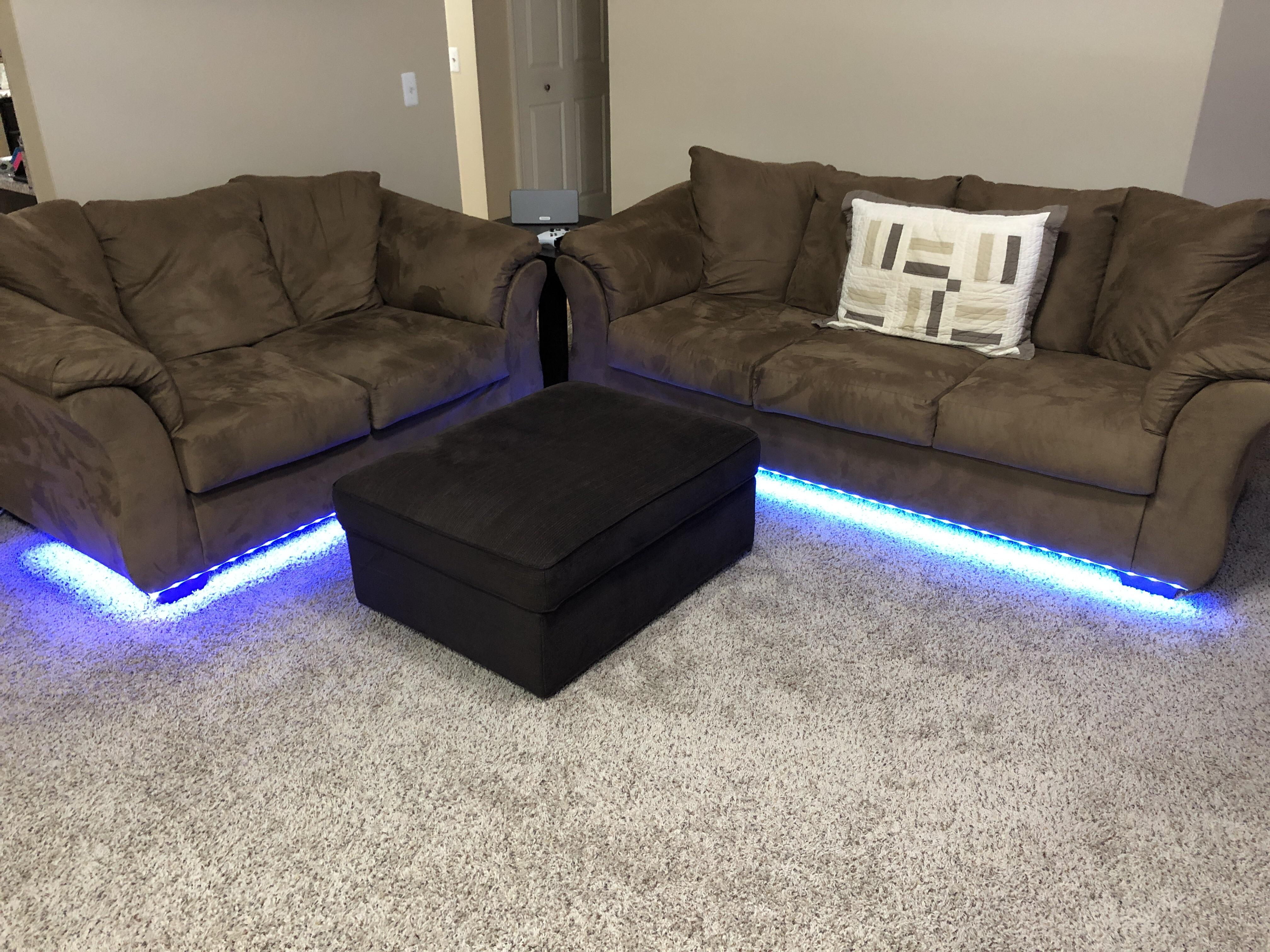 Sofa Couch Reddit Lightstrips Under Couch Hue