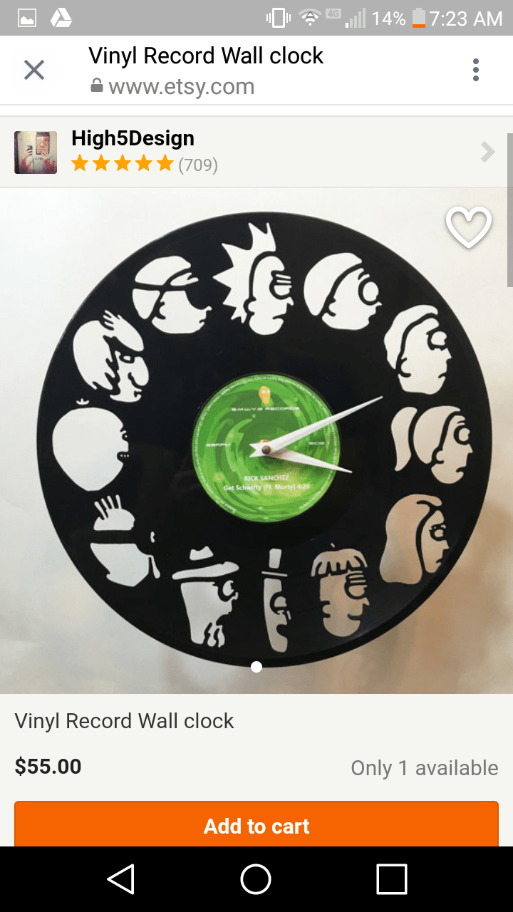 Buy Clock Rick And Morty Vinyl Wall Clock 1 Link To Buy In Comments