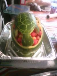 [Homemade] Sea turtle watermelon fruit bowl : food