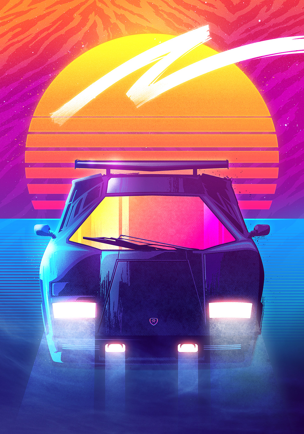 Hotline Miami Iphone Wallpaper Countach By Signalnoise Outrun