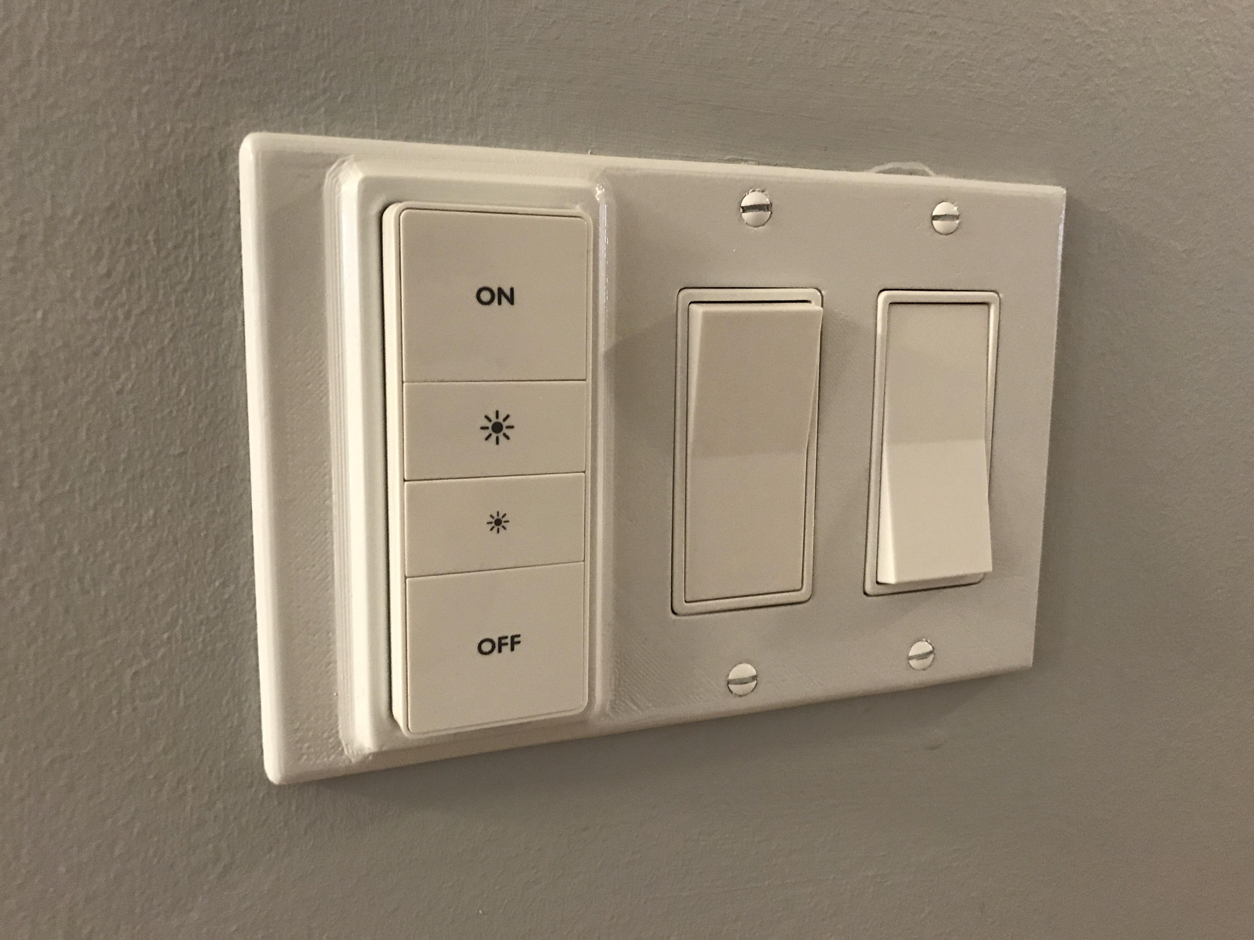 Hue Fitting Gang Plates W Dimmer Switch Fitting Hue