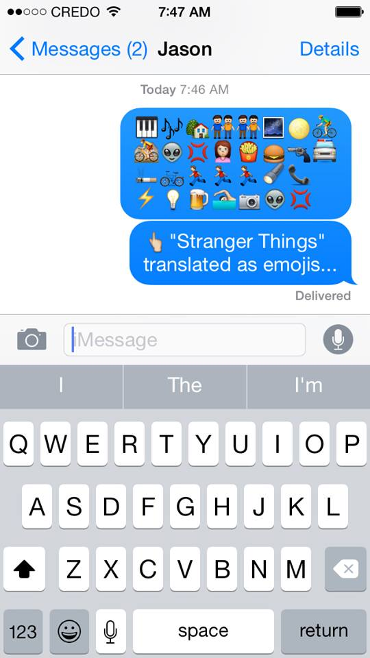 translating stranger things into emojis  StrangerThings - emoji story copy and paste