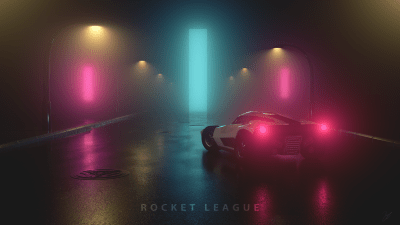 Here's another 3D wallpaper from me! Breakout in 4K. Enjoy guys! : RocketLeague