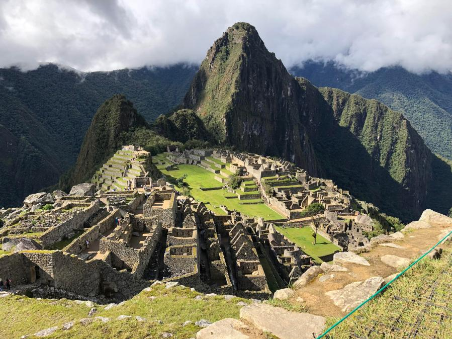 Machu Picchu after an afternoon storm on New Years Eve ...