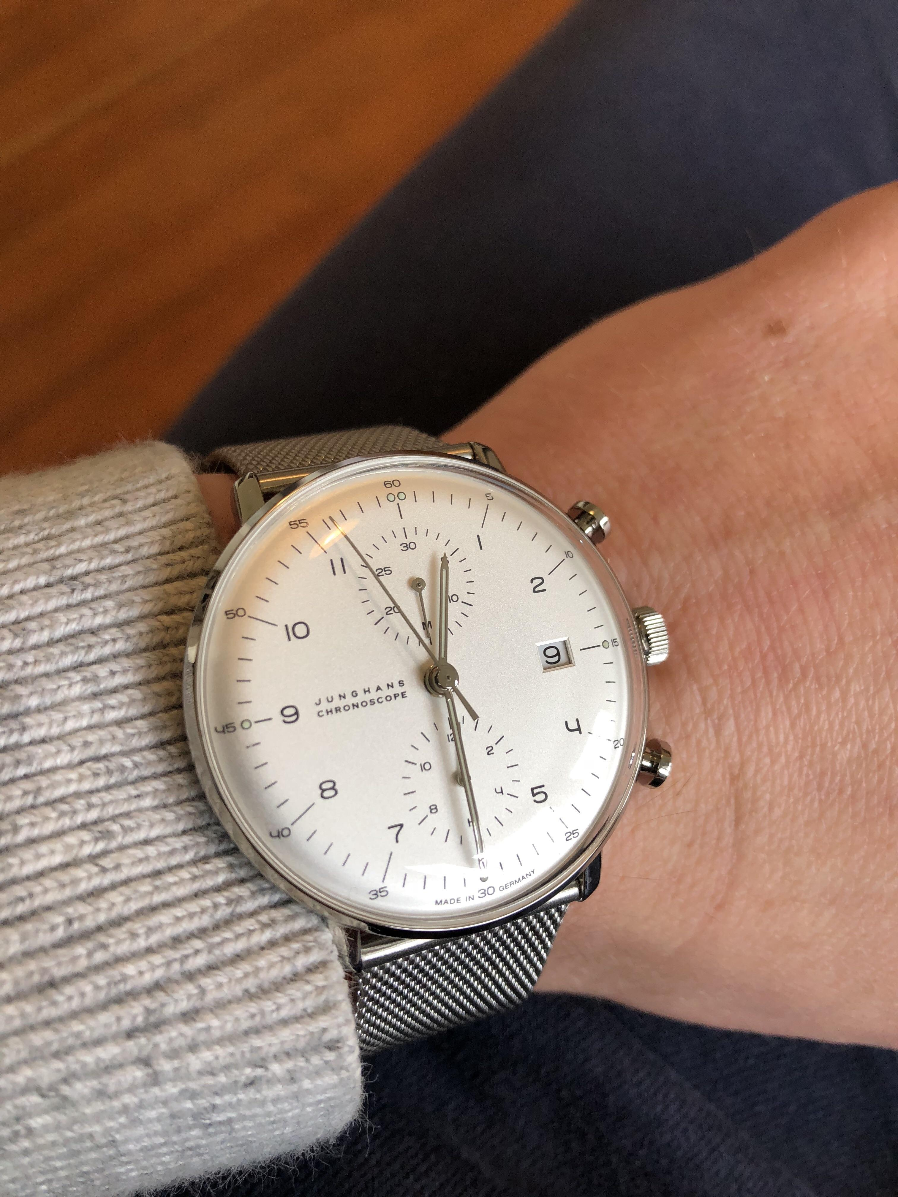 Max Bill Automatic Junghans First Non Seiko Automatic Junghans Max Bill Chronoscope